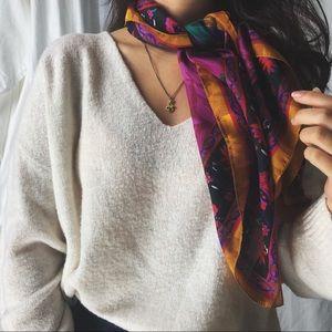 VINTAGE/ silky peony scarf